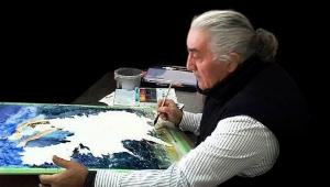 Ressam Canip Taşkıran suluboya sergisi ile Bornova'da