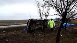 Cenaze töreni için gelen gurbetçi çift kaza yaptı: 1 ölü, 1 yaralı