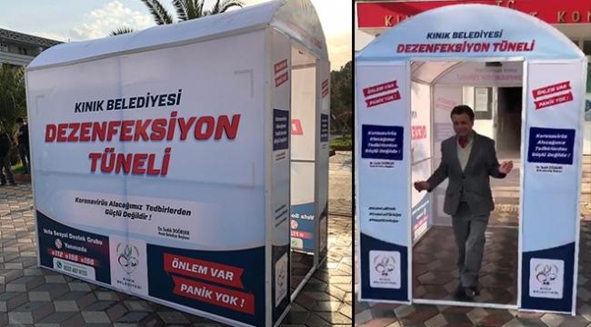 Doktor Başkan'dan vatandaşlara: Dezenfeksiyon tüneli
