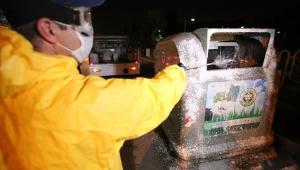 5 binin üzerinde konteyner dezenfekte edildi