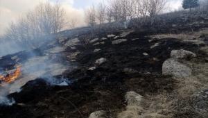 Çoban ateşi Aradahan,da yangına sebep oldu