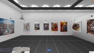 Bayraklı'da ressamlardan uluslararası sanal sergi 17 il, 6 ülkeden 70 sanatçı katıldı