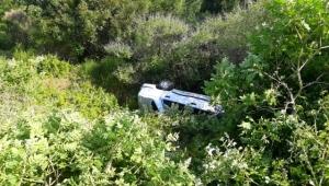 Otomobilin şarampole yuvarlanması sonucu: 2 yaralı