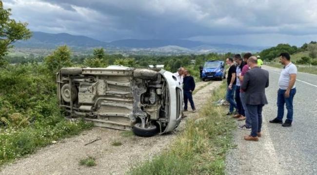 Ticari araç takla attı: 1 ölü, 3 yaralı