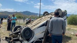 Ardahan - Erzurum trafik kazasında biri çocuk 3 kişi yaralandı