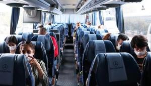 Corona virüs hastası tatile giderken yolcu otobüsünde yakalandı