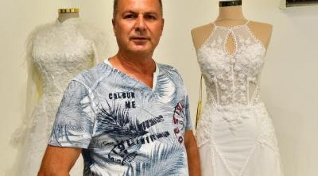 """İzmir esnafı """"Biz Varız"""" kampanyasına gelinlik ve nişan kıyafeti bağışladı"""