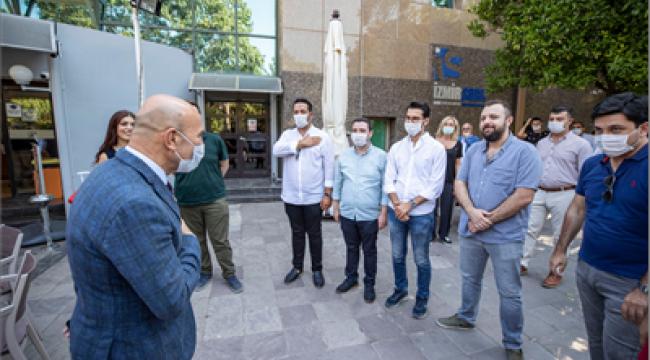 Soyer, CHP İzmir İl Örgütü'nün düzenlediği bayramlaşma törenine katıldı