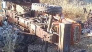 Traktörün altında kalan karı , koca öldü