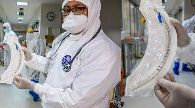 Corona virüs hastalarının hayatını 30 santimetrelik boru kurtarıyor