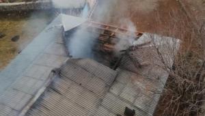 Ardahan'da Camide sobadan çıkan korkutan yangın