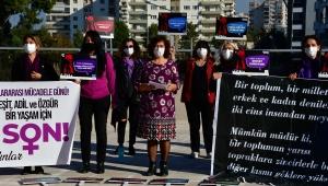 Narlıdere 'şiddete' karşı tek yürek!