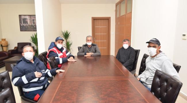 Başkan Uygur 16 yıl önce işe aldığı engelli işçileri ağırladı