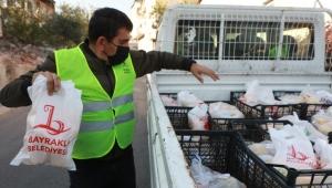 BAYRAKLI BELEDİYESİNDEN 41 BİN AİLEYE SOSYAL DESTEK