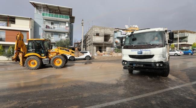 Gaziemir'de yağmur seferberliği