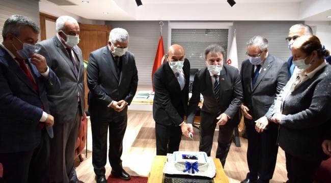 Bornova'da görevin ikinci yılında sürpriz kutlama
