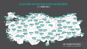 Haftalık vaka sayısı açıklandı: İzmir Düşüşte