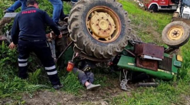 Traktörün altında kalan yaşlı adam hayatını kaybetti