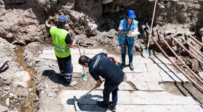 Halit Ziya Bulvarı'ndaki çalışmalar Müze Müdürlüğü denetiminde sürüyor
