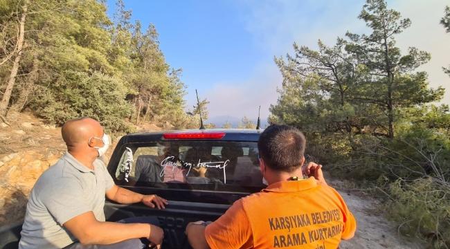 Karşıyaka Belediyesi dayanışma için yangın bölgesinde