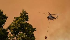 Yangın söndürme helikopteri düştü iddiası! Orman Genel Müdürlüğü'nden açıklama geldi