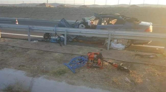 Aksaray'daki kazada aile faciası: Anne ve oğlu öldü, 2 çocuk yaralı