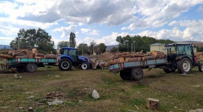 Ardahan'da kaçak ağaç keserken yakalanan 2 zanlı yakalandı