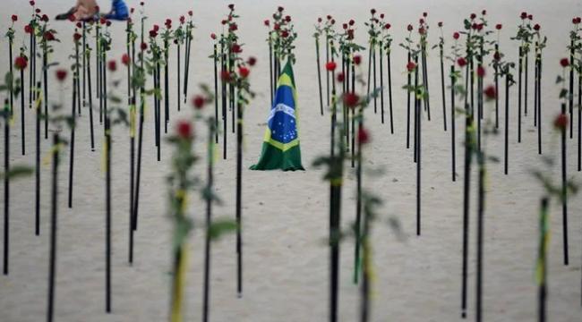 Brezilya'da corona virüsten can kaybı 580 bini aştı