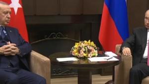 Cumhurbaşkanı Erdoğan ile Putin arasındaki görüşme başladı