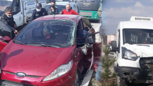 0tomobil ile minibüsün çarpıştı 2 kişi yaralandı