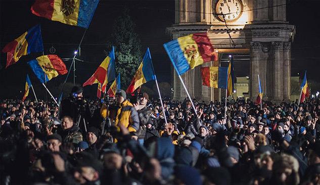 Moldova'da hükümet karşıtı gösteri