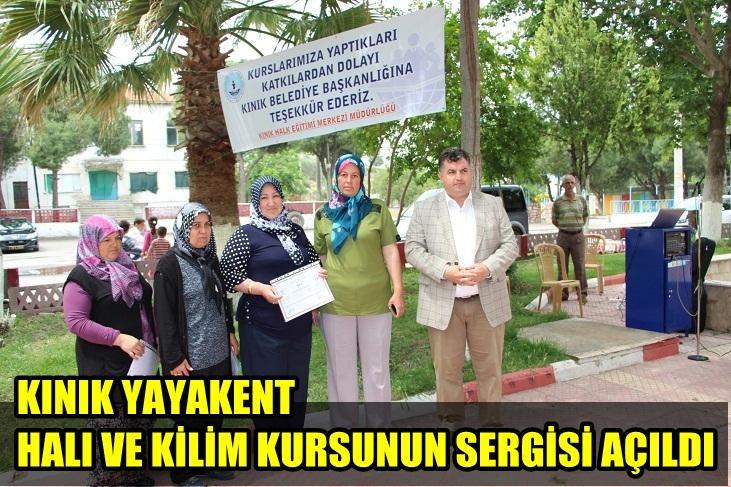 KINIK'TA KURSİYERLERİN SERGİSİ