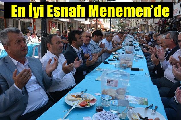 """ŞAHİN; """"İzmir'in en iyi esnafı Menemen'de"""""""
