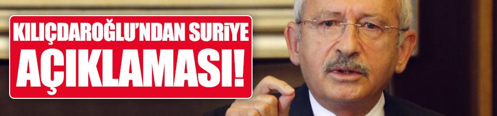 ABD-Suriye gerilimine Kılıçdaroğlu'ndan açıklama