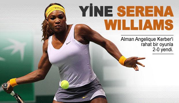 Favori Serena Williams kazandı